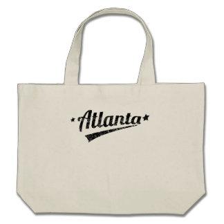 Distressed Retro Atlanta Logo Canvas Bag