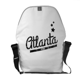 Distressed Retro Atlanta Logo Messenger Bags