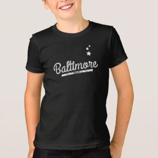 Distressed Retro Baltimore Logo T-Shirt