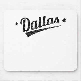 Distressed Retro Dallas Logo Mouse Pad