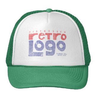 Distressed Retro Logo Hat