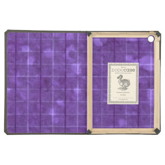 Distressed Retro Plaid Grunge Purple Cover For iPad Air