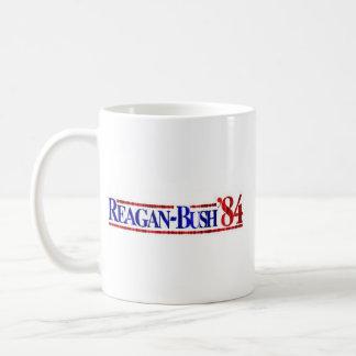 Distressed Retro Reagan-Bush 1984 Mug