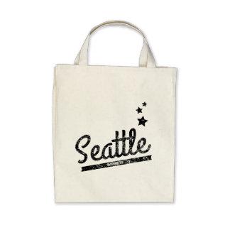 Distressed Retro Seattle Logo Bag