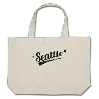 Distressed Retro Seattle Logo Bags