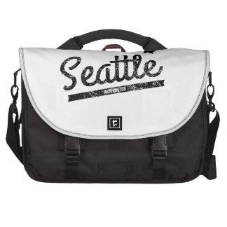 Distressed Retro Seattle Logo Commuter Bag