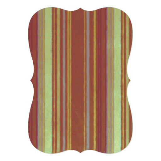Distressed Retro Stripe Yellow Rust Brown Stripes Cards