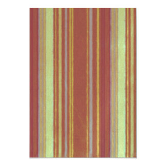 Distressed Retro Stripe Yellow Rusty Brown Grunge Magnetic Invitations