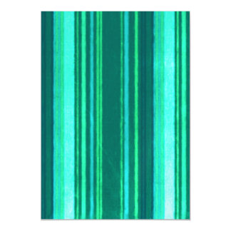 Distressed Retro Stripes Teal Turquoise Stripe Magnetic Invitations