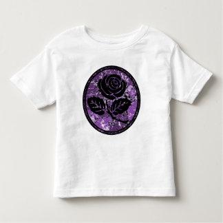 Distressed Rose Silhouette Cameo - Purple Shirts