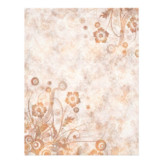 Distressed Rust Fall Floral Flyer