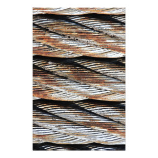 Distressed Rusting Metal Rope - Nautical Print Custom Stationery