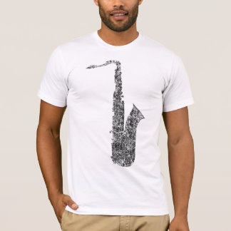 distressed saxophone T-Shirt