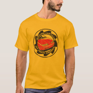 Distressed SCCNA logoed Gold T-Shirt