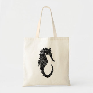 Distressed Seahorse Silhouette Budget Tote Bag