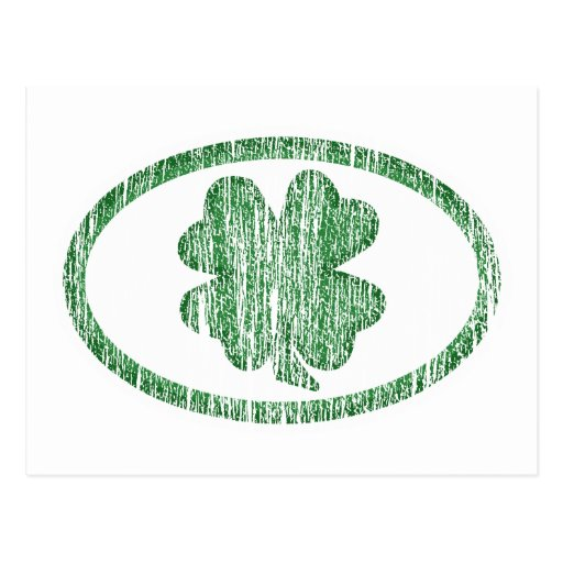 Distressed Shamrock Postcard