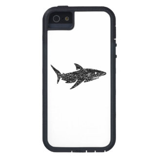 Distressed Shark Silhouette iPhone 5 Case