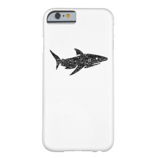 Distressed Shark Silhouette Barely There iPhone 6 Case
