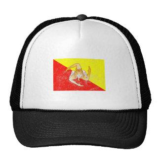 Distressed Sicily Flag Hat
