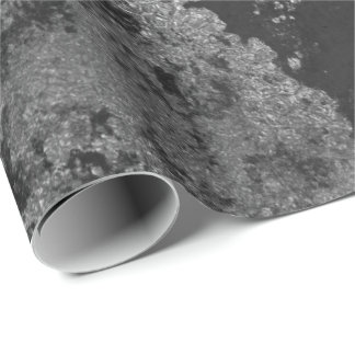 Distressed Silver Black Graphite  Gray Grungy Wrap Wrapping Paper