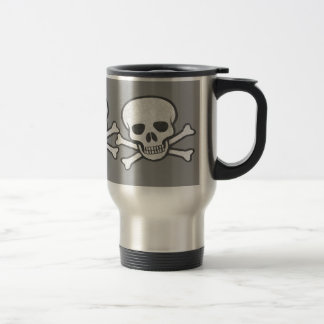 Distressed Skull & Crossbones Mug
