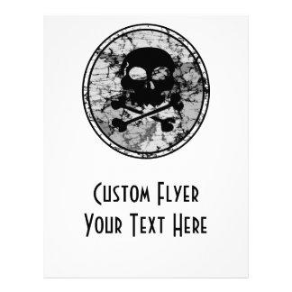 Distressed Skull & Crossbones Silhouette B&W 21.5 Cm X 28 Cm Flyer