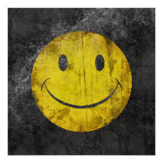 Distressed Smiley Face Poster