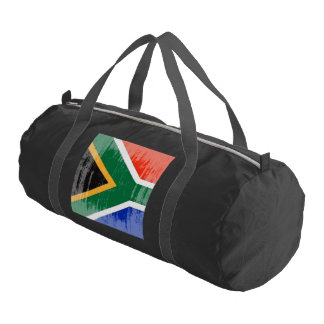DISTRESSED SOUTH AFRICA FLAG.png Gym Duffel Bag