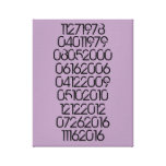 Distressed Special Dates Stretched Canvas Prints