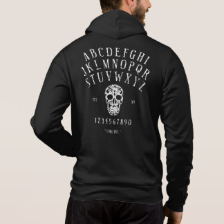 Distressed Spirit Board & Sugar Skull Zip Hoodie
