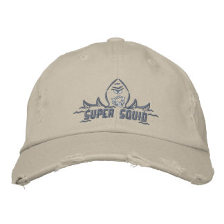 Distressed Squid Cap Embroidered Hat