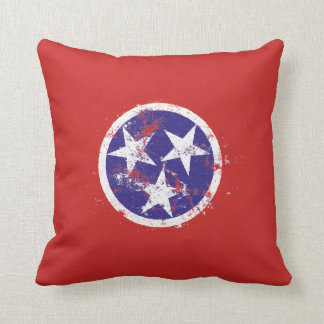 Distressed State Flag Of Tennessee Cushion