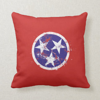 Distressed State Flag Of Tennessee Pillow