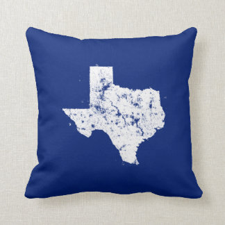 Distressed State Map Silhouette of Texas Cushion