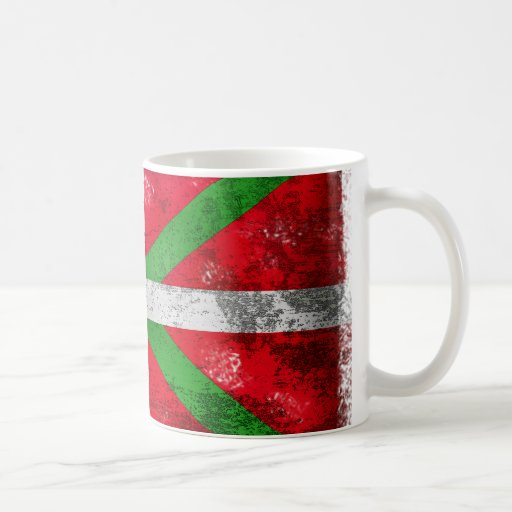 Distressed style Basque flag: Ikurriña, Coffee Mug