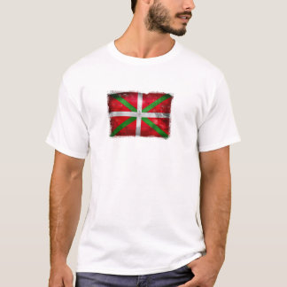Distressed style Basque flag: Ikurriña, T-Shirt