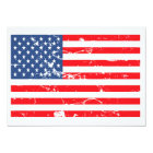 Distressed style USA flag Party Invite