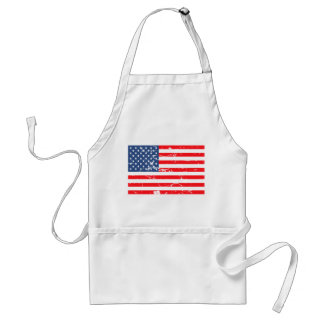 Distressed style USA flag Standard Apron