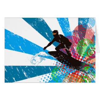 Distressed Surfer Paradise Greeting Card