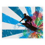 Distressed Surfer Paradise Poster