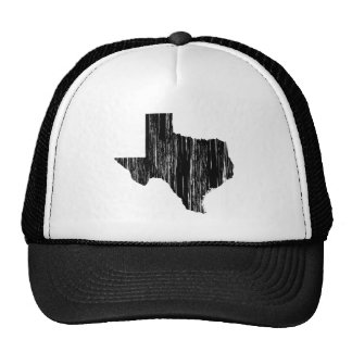 Distressed Texas State Outline Hats