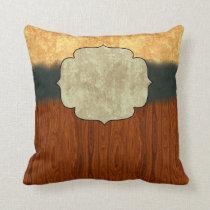 Distressed Texture Monogram Cushion