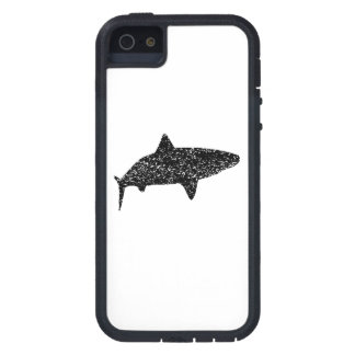 Distressed Tiger Shark Silhouette iPhone 5 Cover