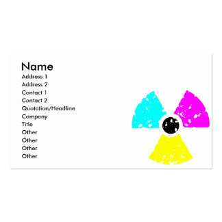 distressed toxic symbol CMYK Pack Of Standard Business Cards