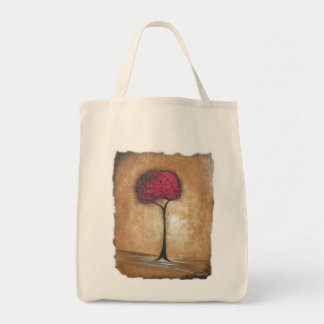 Distressed Tuscan Red Tree Tote Bag
