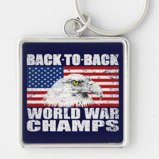 Distressed U.S. World War Champs Keychain