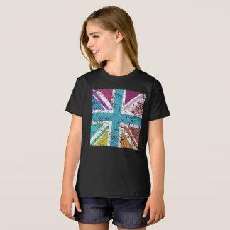 Distressed Union Flag Multicol Square T-Shirt