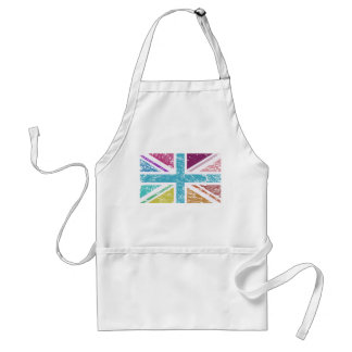 Distressed Union Flag Multicolored Standard Apron