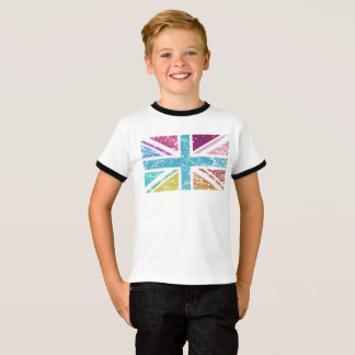 Distressed Union Flag Multicolored T-Shirt