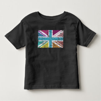 Distressed Union Flag Multicolored Toddler T-Shirt